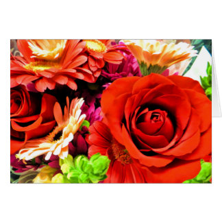 Beautiful Floral Rose Bouquet Mother's Day Card