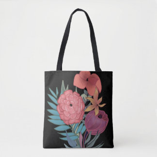 Beautiful floral tote bag