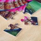 Beautiful Floral Vintage Krishna Radha Jigsaw Puzzle