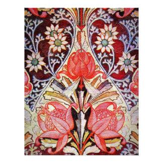 Beautiful Floral Vintage Wallpaper Letterhead Design