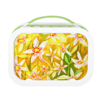 Beautiful Floral Watercolour Lunch Box