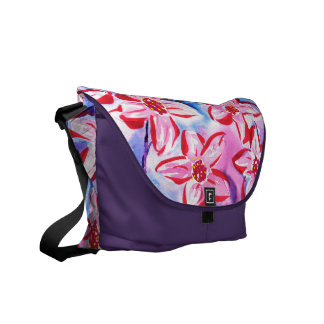 Beautiful Floral Watercolour Messenger Bag
