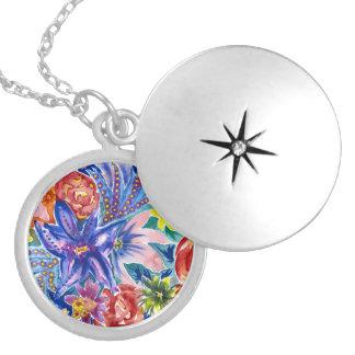 Beautiful Floral Watercolour Pendant Necklace