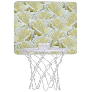 beautiful floral white roses photograph design mini basketball hoop