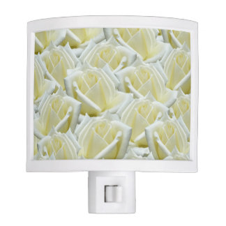 beautiful floral white roses photograph design night light