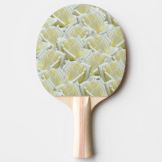 beautiful floral white roses photograph design ping pong paddle