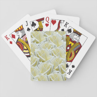 beautiful floral white roses photograph design playing cards