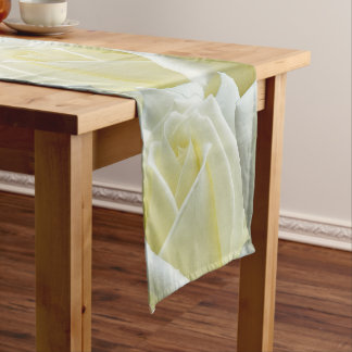 beautiful floral white roses photograph design short table runner