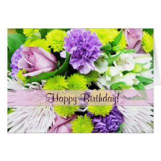 Beautiful Florals Greetings Card