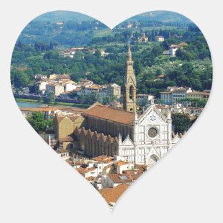 Beautiful Florence Heart Sticker