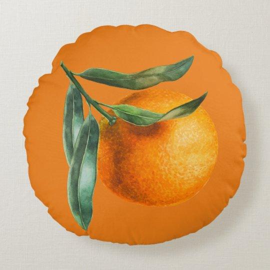 Beautiful Florida Orange Morning Round Pillow