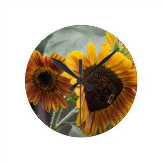 Beautiful Florida Sunflowers Wallclock