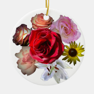 Beautiful Flowers Ceramic Ornament