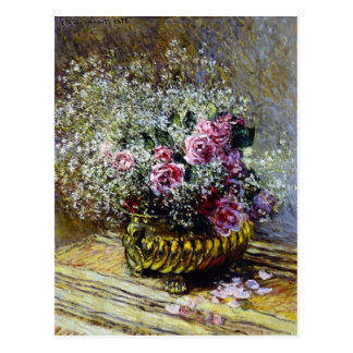 Beautiful Flowers in a Gold Pot Postcard