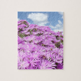 beautiful flowers in the sun puffy clouds jigsaw puzzle