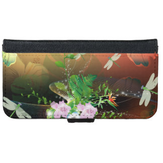 Beautiful flowers iPhone 6 wallet case
