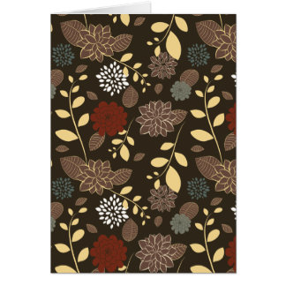 Beautiful flowers leaves branches card