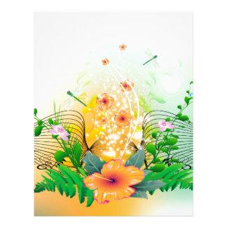 Beautiful flowers custom letterhead
