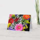 Beautiful Flowers Thinking of You Greeting Card