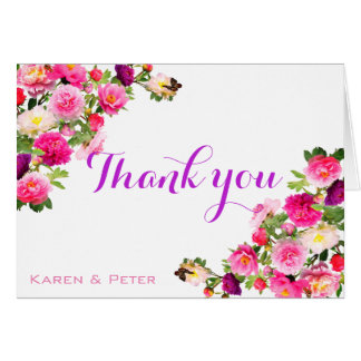 Beautiful Flowery Thank You Cards