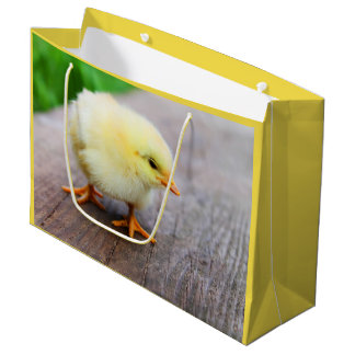 Beautiful fluffy Yellow Chicken Large Gift Bag