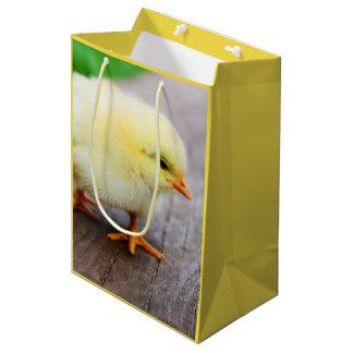 Beautiful fluffy Yellow Chicken Medium Gift Bag
