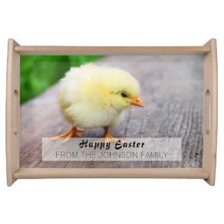 Beautiful fluffy Yellow Chicken Serving Tray
