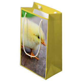Beautiful fluffy Yellow Chicken Small Gift Bag