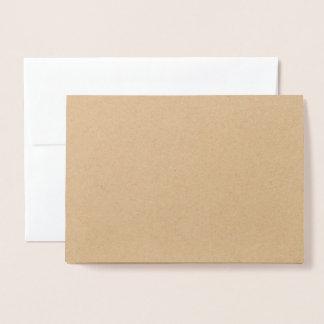 Beautiful Foil Silver - Greeting Card