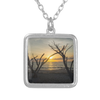 Beautiful Folly Morning Silver Plated Necklace