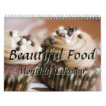 Beautiful Food Kitchen Chef Cooking Monthly 2016 Calendar