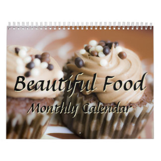 Beautiful Food Kitchen Chef Cooking Monthly Calendar