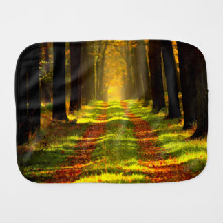 Beautiful Forest in Autumn Baby Burp Cloth
