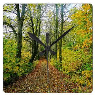 Beautiful Forest Print Wall Clock