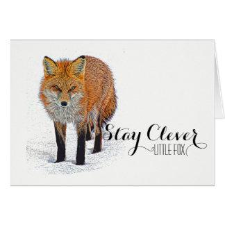 Beautiful Fox Art Notecard