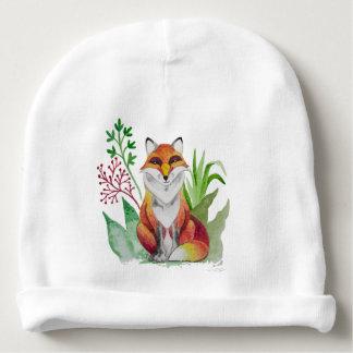 Beautiful Fox card for Baby Shower Baby Beanie