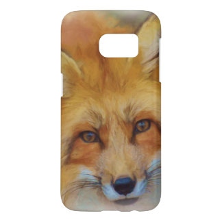 Beautiful Fox Face Watercolour Samsung Galaxy S7 Case
