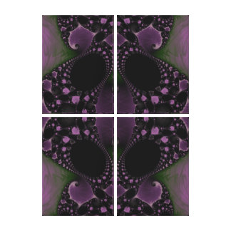 Beautiful Fractal Abstract Wrapped Canvas Canvas Prints