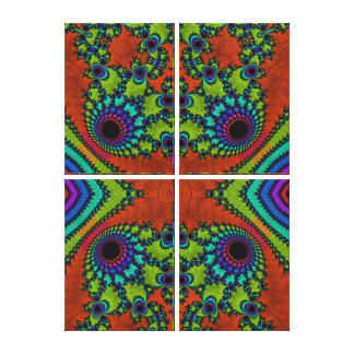 Beautiful Fractal Art Home Decor Gallery Wrapped Canvas