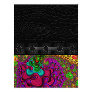 Beautiful Fractal Art Letterhead Design