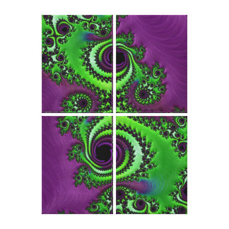 Beautiful Fractal Art Wrapped Canvases Gallery Wrapped Canvas