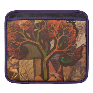 Beautiful Fractal Collage of an Origami Autumn iPad Sleeve
