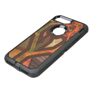 Beautiful Fractal Collage of an Origami Autumn OtterBox Defender iPhone 8 Plus/7 Plus Case