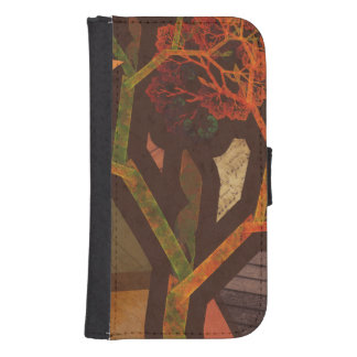 Beautiful Fractal Collage of an Origami Autumn Samsung S4 Wallet Case