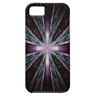 Beautiful fractal cross iphone case iPhone 5 cover