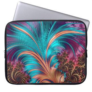 Beautiful Fractal Feather Design Laptop Sleeve