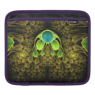 Beautiful Fractal Feathers of the Quetzal Bird iPad Sleeve