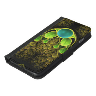 Beautiful Fractal Feathers of the Quetzal Bird iPhone 6/6s Plus Wallet Case