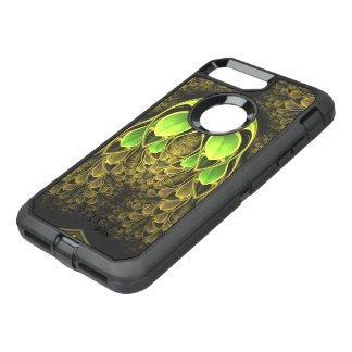 Beautiful Fractal Feathers of the Quetzal Bird OtterBox Defender iPhone 8 Plus/7 Plus Case