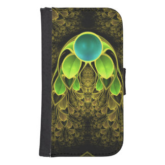 Beautiful Fractal Feathers of the Quetzal Bird Samsung S4 Wallet Case